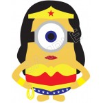 Despicable Me Minion Wonder Woman T Shirt Iron on Transfer Decal #55 by www.shopironons.com