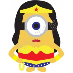 Despicable Me Minion Wonder Woman T Shirt Iron on Transfer Decal #55