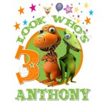 Dinosaur Train Birthday Personalized Custom T Shirt Iron on Transfer Decal #47 by www.shopironons.com