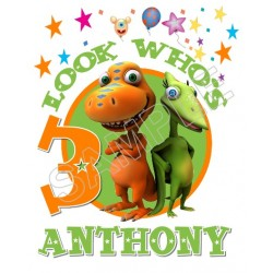 Dinosaur Train Birthday Personalized Custom T Shirt Iron on Transfer Decal #47