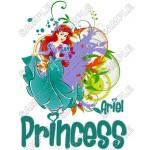 Disney Princess Ariel Little Mermaid T Shirt Iron on Transfer Decal #4 by www.shopironons.com
