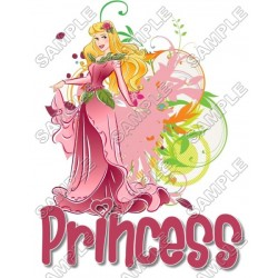 Disney Princess Aurora T Shirt Iron on Transfer Decal #19