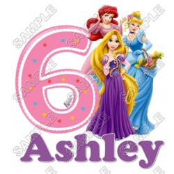 Disney Princess Tangled Birthday Personalized Custom T Shirt Iron on Transfer Decal #28