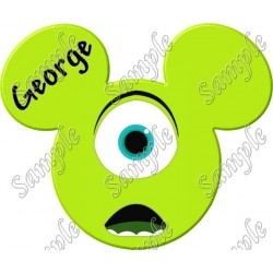 Disney Vacation Mike Wazowski Custom Personalized T Shirt Iron on Transfer Decal #28