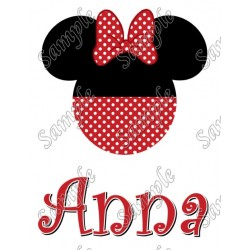 Disney Vacation Minnie Mouse Personalized Custom T Shirt Iron on Transfer Decal #26