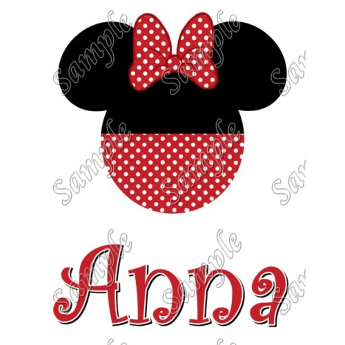 94288b8f9c218 Disney Vacation Minnie Mouse Personalized Custom T Shirt Iron on Transfer  Decal  26 by www