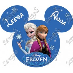 Disney World Vacation Frozen Custom Personalized T Shirt Iron on Transfer Decal #82