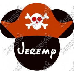 Disney World Vacation Mickey Mouse Pirate Custom Personalized T Shirt Iron on Transfer Decal #33