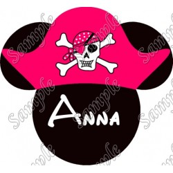 Disney World Vacation Minnie Mouse Pirate Custom Personalized T Shirt Iron on Transfer Decal #34