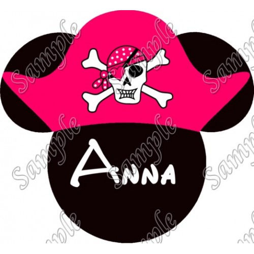Disney World Vacation Minnie Mouse Pirate Custom Personalized T Shirt Iron on Transfer Decal #34 by www.shopironons.com
