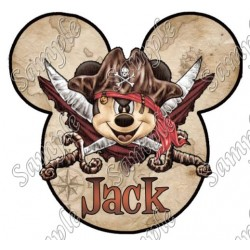 Disney World Vacation Pirate Custom Personalized T Shirt Iron on Transfer Decal #41