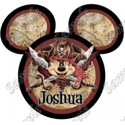 Disney World Vacation Pirate Custom Personalized T Shirt Iron on Transfer Decal #42
