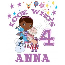 Doc McStuffins Birthday Personalized Custom T Shirt Iron on Transfer Decal #69