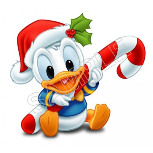Donald Duck Baby Christmas T Shirt Iron on Transfer Decal #6 by www.shopironons.com