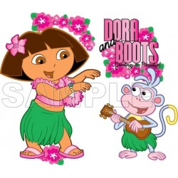 Dora and Boots T Shirt Iron on Transfer Decal #5