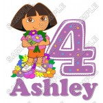 Dora Birthday Personalized Custom T Shirt Iron on Transfer Decal #27 by www.shopironons.com