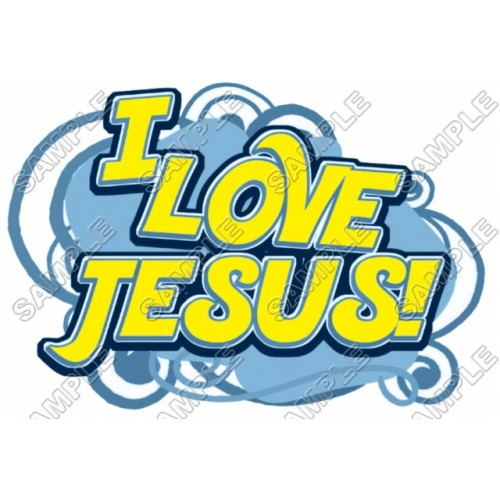 Easter I Love Jesus T Shirt Iron on Transfer Decal #1 by www.shopironons.com