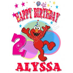 Elmo Birthday Personalized Custom T Shirt Iron on Transfer Decal #79
