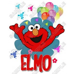 Elmo Birthday T Shirt Iron on Transfer Decal #5