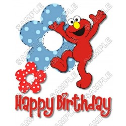 Elmo Birthday T Shirt Iron on Transfer Decal #6