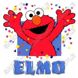 Elmo Birthday T Shirt Iron on Transfer Decal #7