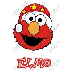 Elmo Christmas T Shirt Iron on Transfer Decal #70