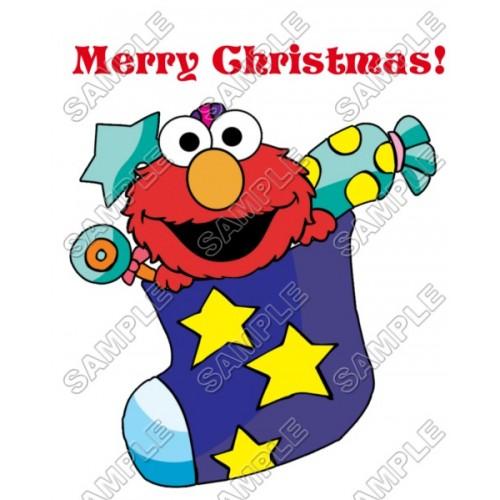 Elmo Christmas T Shirt Iron on Transfer Decal #72 by www.shopironons.com
