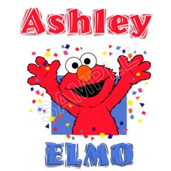 Elmo Personalized Custom T Shirt Iron on Transfer Decal #73