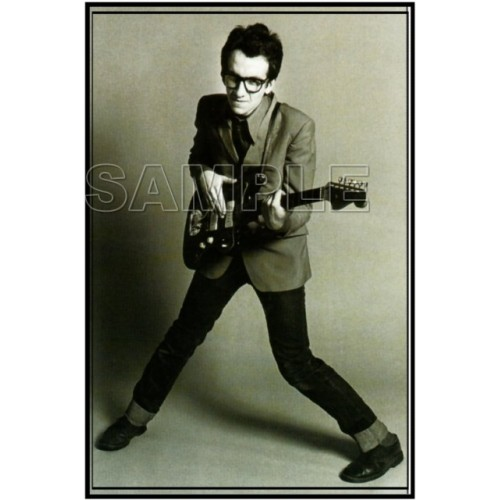 Elvis Costello T Shirt Iron on Transfer Decal #2 by www.shopironons.com