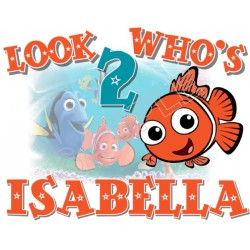 Finding Nemo Birthday Personalized Custom T Shirt Iron on Transfer Decal #46