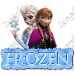 Frozen Anna Elsa T Shirt Iron on Transfer Decal #19