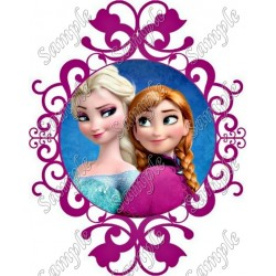 Frozen Elsa and Anna T Shirt Iron on Transfer Decal #132