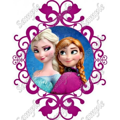 Frozen Elsa and Anna T Shirt Iron on Transfer Decal #132 by www.shopironons.com