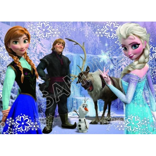 Frozen Elsa Anna Olaf T Shirt Iron on Transfer Decal #78 by www.shopironons.com
