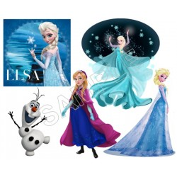 Frozen Elsa Anna Olaf T Shirt Iron on Transfer Decal #81