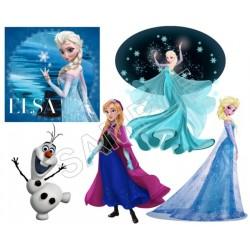 Frozen Elsa Anna Olaf T Shirt Iron on Transfer Decal #81