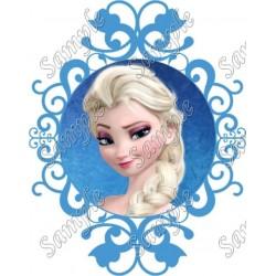 Frozen Elsa T Shirt Iron on Transfer Decal #49