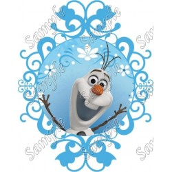 Frozen Olaf T Shirt Iron on Transfer Decal #47