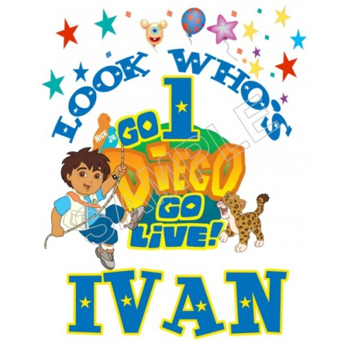 Go Diego Go Birthday Personalized Custom T Shirt Iron on Transfer Decal #80 by www.shopironons.com
