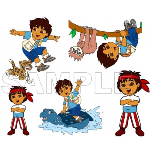 Go Diego Go T Shirt Iron on Transfer Decal #1 by www.shopironons.com