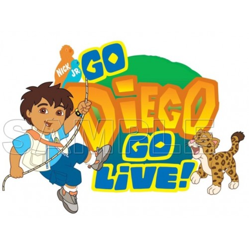 Go Diego Go T Shirt Iron on Transfer Decal #3 by www.shopironons.com