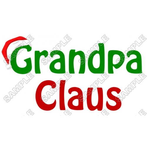 Grandpa Claus Christmas T Shirt Iron on Transfer Decal #68 by www.shopironons.com