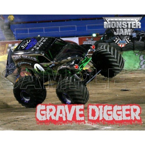 GRAVE DIGGER Monster Jam T Shirt Iron on Transfer Decal #5 by www.shopironons.com
