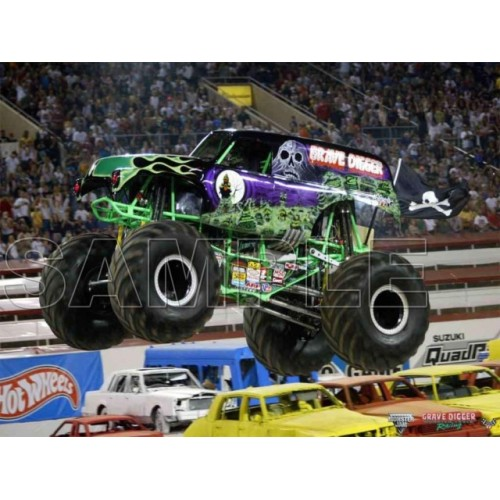 GRAVE DIGGER Monster Jam T Shirt Iron on Transfer Decal #6 by www.shopironons.com