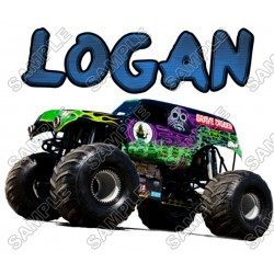 Grave Digger Monster Truck Personalized Custom T Shirt Iron on Transfer Decal #31