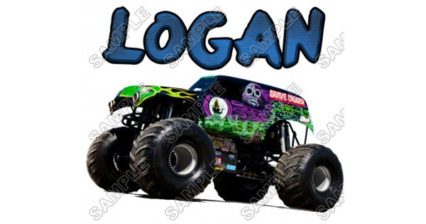 Grave Digger Monster Truck Personalized Custom T Shirt