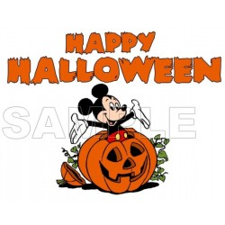 Halloween Mickey Mouse T Shirt Iron on Transfer Decal #6