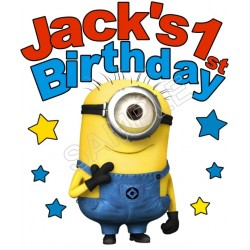 Happy Birthday Despicable Me Personalized Custom T Shirt Iron on Transfer Decal #27