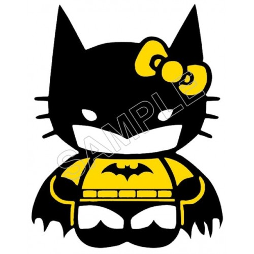 Hello Kitty Batman T Shirt Iron on Transfer Decal #59 by www.shopironons.com
