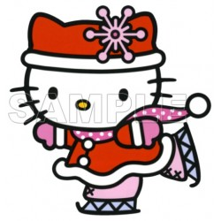 Hello Kitty Christmas T Shirt Iron on Transfer Decal #27